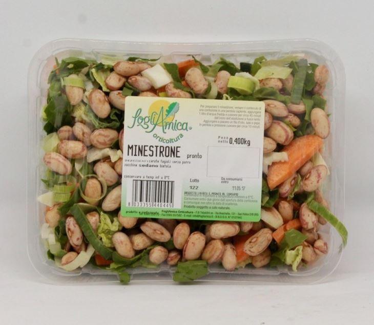 Vassoio minestrone gr400 € 2,80