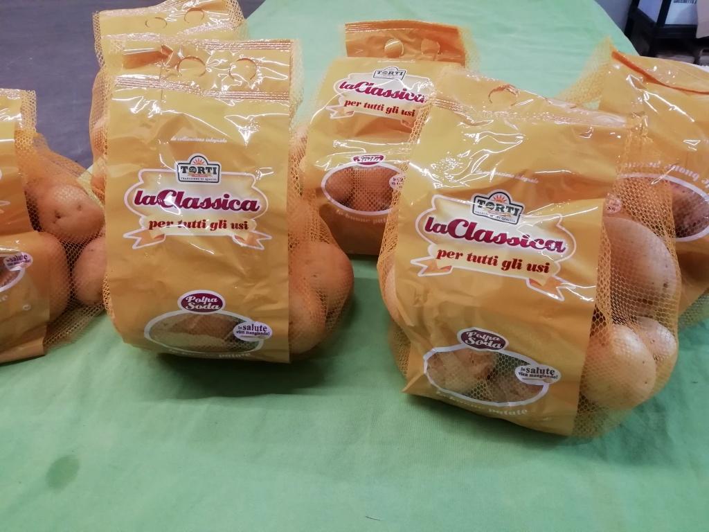 Patate sacchetto da kg. 2 € 1,50 al kg.